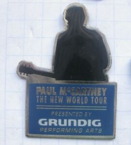 PAUL McCARTNEY / WORLD TOUR / BEATLES / ENGLAND / GRUNDIG  ... Musik-Pin (157k)
