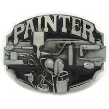 Vintage Painter Belt Buckle Western Cowboy Native American (PNTR-01)