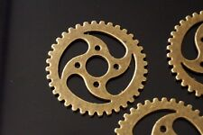 10 Large Metal Antique Bronze Steampunk Cogs and Gears Charm Pendant 30mm TSC99