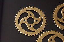 10 Grand Métal Antique Bronze Steampunk Rouages et Engrenages Charm Pendentif 30 mm TSC99