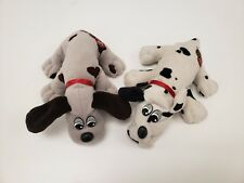 2 Pound Puppies Vintage 1980's Grey with Brown spots & White with black spots
