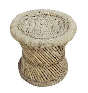 Arty Crafty Handmade Cane Bar Bamboo Stool-Muddha Outdoor/Indoor Eco-Furniture