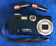 Minolta DiMAGE F100 4.0 Megapixel Digi Digital Camera~~Blue~~Excellent~~