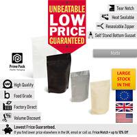 500 Gram & 1 KG Matte Foil Zip Lock Bags Stand Up Pouches Food Grade Heat Seal
