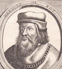 Portrait XVIIe Merovée III Mérowig Merovingiens Verica Reine Chlodeswinthe