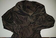 WAYNE COOPER Flared trench coat Sz 10-12 Metalicy Dark grey Khaki EUC