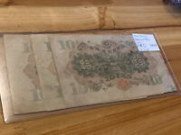 1930 Japan Banknote 3 Pieces Lot PA48