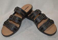 Clarks Women's Leisa Lakia Black Leather Sandal - Size 11 NWB