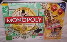Hasbro Championship Edition MONOPOLY Family Game Night *New* Includes Trophy
