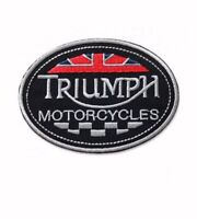 "Triumph Wing England Motorcycle Racing 12/"" sew Iron On Embroidery Applique Patch"