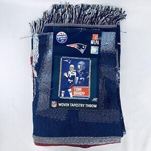 "New England Patriots Tom Brady Woven Tapestry Throw BRAND NEW 48"" X 60"" Polyeste"