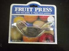 Bird Fruit Press NIP No. LP-557 Stainless Steel Highly Polished
