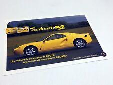 2000 Hommell Berlinette RS2 Information Sheet Brochure - French