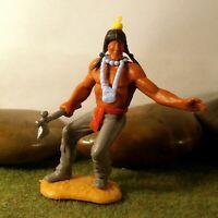 Timpo Toys Made in GT.Britain Steckfigur beweglich Indianer zu Fuß