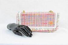 SAMANTHA THAVASA Pink Boucle Baguette Bag Handbag Purse Tote Satchel NEW