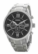 Fossil BQ1125 Flynn Stainless Steel Chronograph Men's Watch - Silver / Black