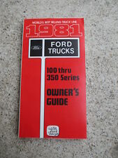 1981 FORD TRUCK ORIGINAL FACTORY OWNERS MANUAL GUIDE NOS F100 F150 F250 F350 NEW
