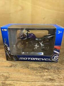 1:18 Triumph Tiger Explorer Motorcycle- Licensed Product- Made by Welly. Diecast