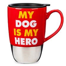 "Disney Authentic Bolt Dog Travel Mug Coffee Cup 12oz ""MY DOG IS MY HERO"" New"