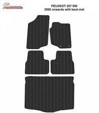 Peugeot 207 SW 2006 Onwards with Bootmat Fully Tailored Rubber Car Mats