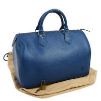Authentic LOUIS VUITTON Speedy 30 Hand Bag Epi Blue M43005 EXCELLENT A41019f