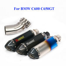 For BMW C600 C650GT Slip on Motorcycle Exhaust Pipe Muffler Middle Connect Pipe