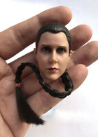 "1:6th Star Wars Leia Organa Solo Head sculpt For 12"" Female Figure Doll Toys"