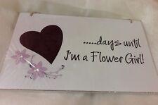 Wooden Blackboard - Days until I'm a Flower Girl