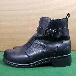 Dansko Portugal Ankle Boots Size 8 EUR 38 Black Leather Side Zip Buckle Detail