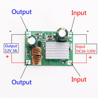 DC 24V 36V 48V 72V 84V 120V to 12V 3A Step Down Power Supply Buck Converter