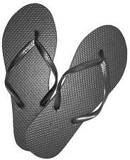 New Wholesale Lot 36 Pairs Womens Solid Black Ladies Flip Flops Nwt