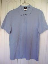 EUC XL CALVIN KLEIN Mens Blue Polo Shirt  Short Sleeve Polo Dress Casual Shirt