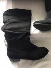 Ladies Black Boots Size 4/37