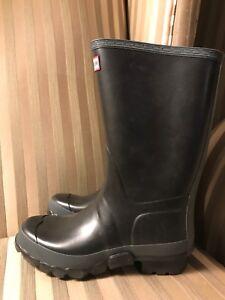 New Hunter Gardener Boots Mens 7 Womens 8 Black