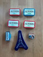 Lot of 7 Empty Mint Tins Altoids Bob Ross Etc