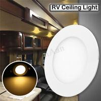 6W 4.75'' RV Recessed Car Ceiling Light DC 12V 400LM 2835 30LED Warm White