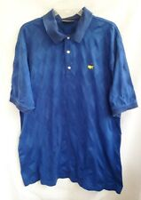 Masters Collection Royal Blue Diamond Print Golf Shirt - Size Large