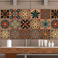 KQ_ CW_ Moroccan Style Geometric Symmetry Wall Tile Sticker DIY Kitchen Home Dec