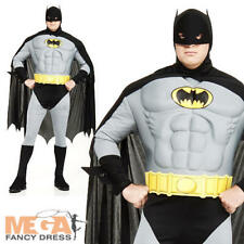 Deluxe Muscle Batman XXL Mens Fancy Dress Superhero Plus Size Costume Outfit