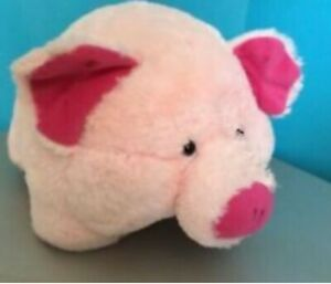 Elka Large pink plush pig toy Can be used as cushion or footstool