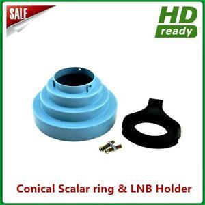 Conical Scaler Ring & LNB Bracket C to Ku Band Kit FTA DMS INTERNATINAL BRAND