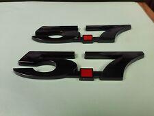 NEW 5.7 CHEVY CHEVROLET GM V8 FENDER EMBLEMS BLACK PAIR