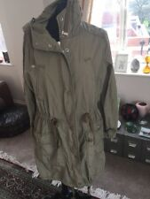 Army Green Topshop Parka Jacket Coat