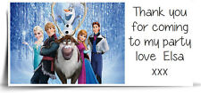 Personalised Frozen Party Bag Stickers Labels Favours Sweet Cone Avery template