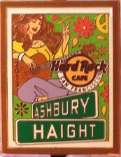 Hard Rock Cafe SAN FRANCISCO 2013 HAIGHT-ASHBURY FAIR PIN Hippie Girl on Poster