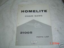 Homelite 2100S chainsaw  parts list