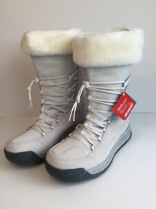 New Balance Womens Winter Boots BW1000WT White Gray Size 10