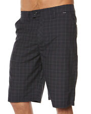 "BRAND NEW + TAGS HURLEY MENS SIZE 36"" ""BARCELONA"" WALK SHORTS BLACK CHECK MAGNUM"