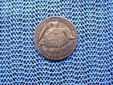 1967 BUNNY: Cajunland - Date Medal Antique Bronze Mardi Gras Doubloon