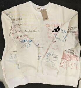 Adidas Yeezy Season 5 Crewneck Graffiti Scribble Sweatshirt Men's Medium M NWT